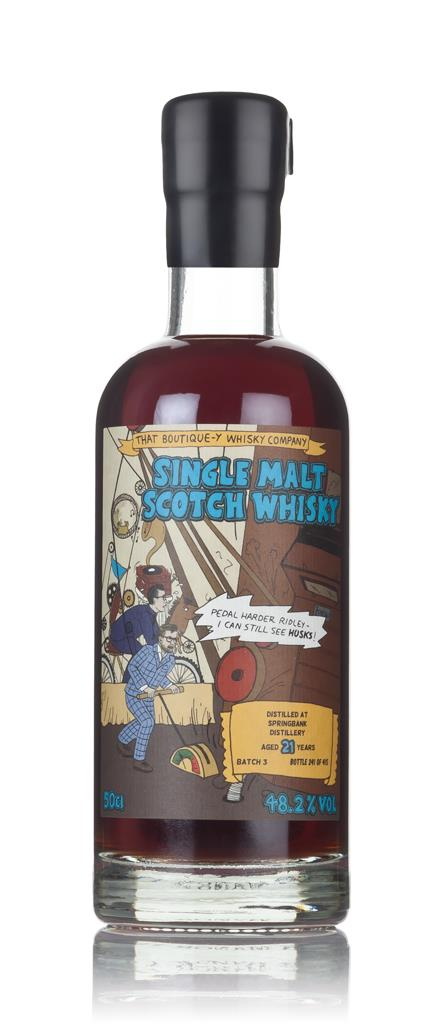 Springbank 21 Year Old - Batch 3(That Boutique-y Whisky Company) 3cl S Single Malt Whisky 3cl Sample