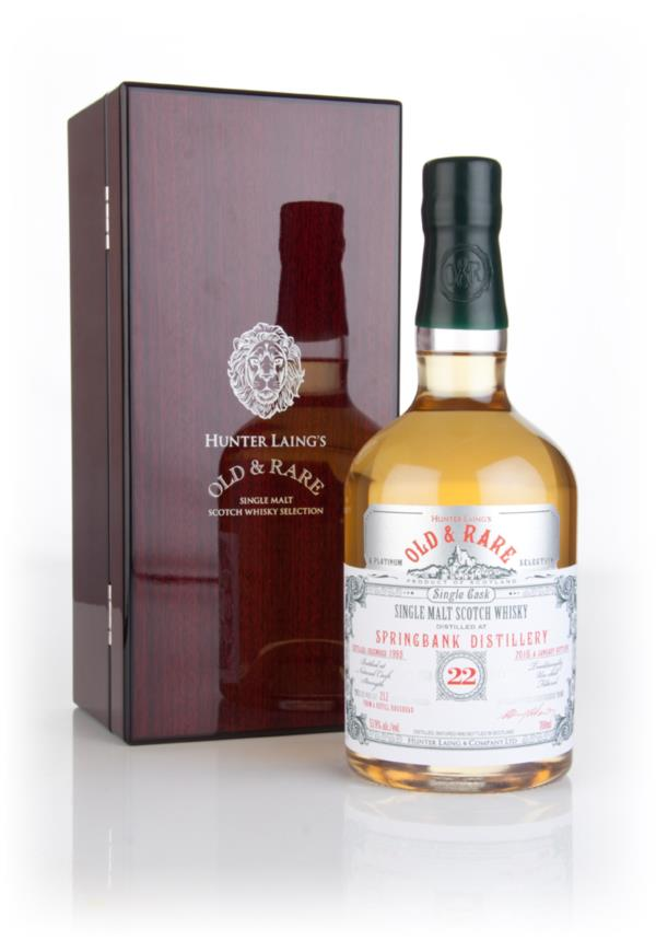 Springbank 22 Year Old 1993 - Old & Rare Platinum (Hunter Laing) 3cl S Single Malt Whisky 3cl Sample