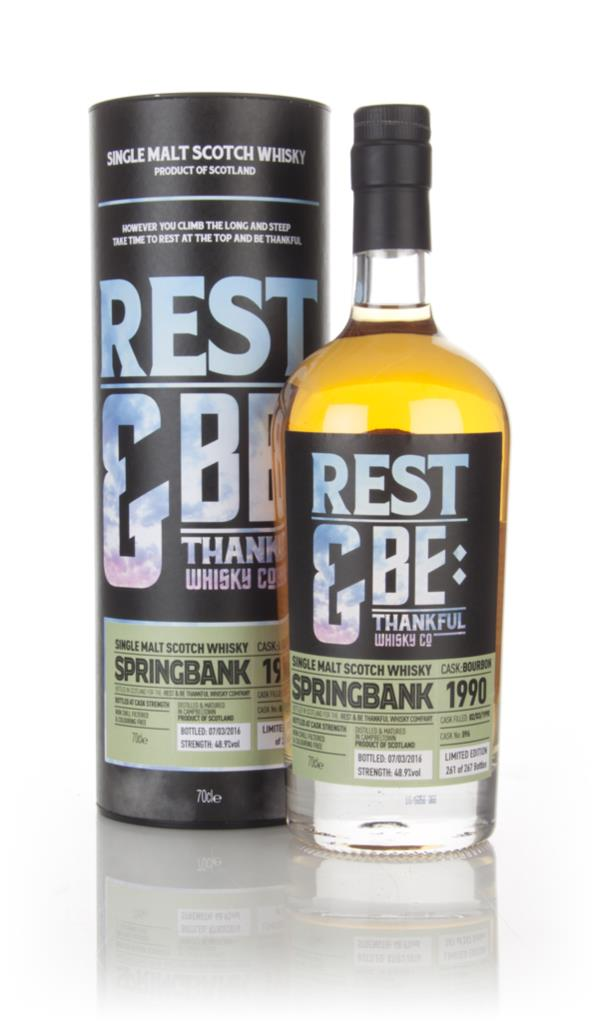 Springbank 26 Year Old 1990 (cask 096) (Rest & Be Thankful) Single Malt Whisky