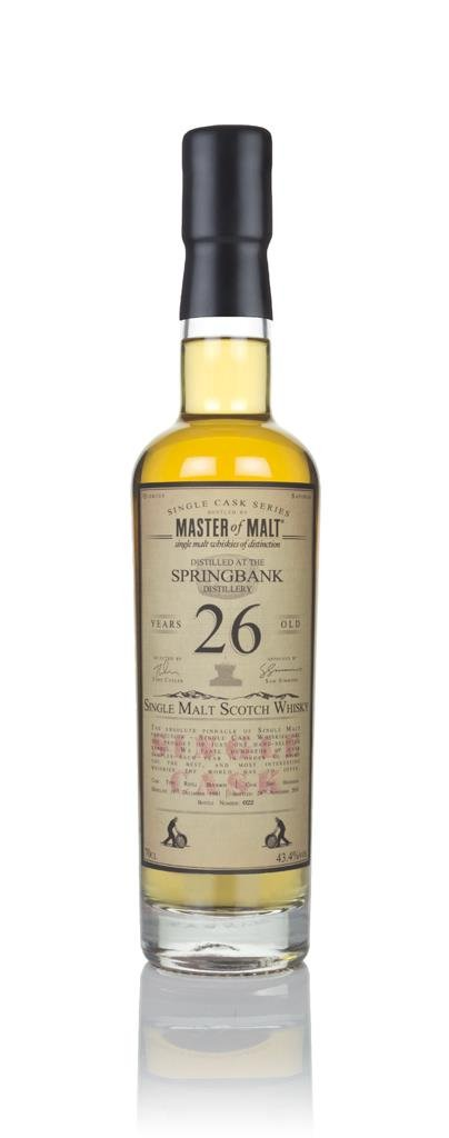 Springbank 26 Year Old 1991 - Single Cask (Master of Malt) Single Malt Whisky