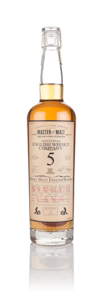 English Whisky Co. 5 Year Old 2010 - Single Cask (Master of Malt) Single Malt Whisky