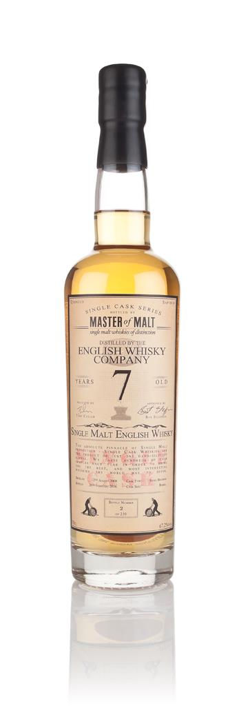 English Whisky Co. 7 Year Old 2008 (cask B1/490) - Single Cask (Master Single Malt Whisky