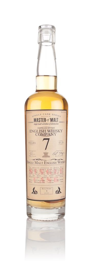 English Whisky Co. 7 Year Old 2008 (cask B1/491) - Single Cask (Master Single Malt Whisky