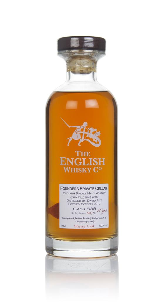 English Whisky Co. Founders Private Cellar 10 Year Old 2007 (cask 838) Single Malt Whisky