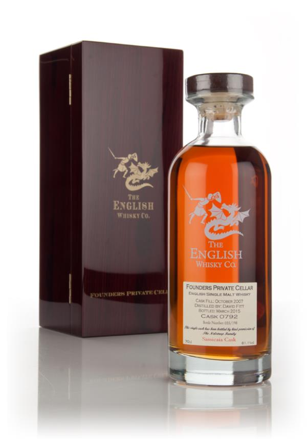 English Whisky Co. Founders Private Cellar 7 Year Old 2007 (cask 0792) Single Malt Whisky 3cl Sample