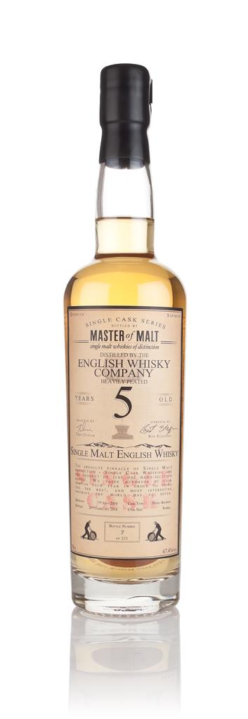 English Whisky Co. Heavily Peated 5 Year Old 2010 - Single Cask (Maste Single Malt Whisky