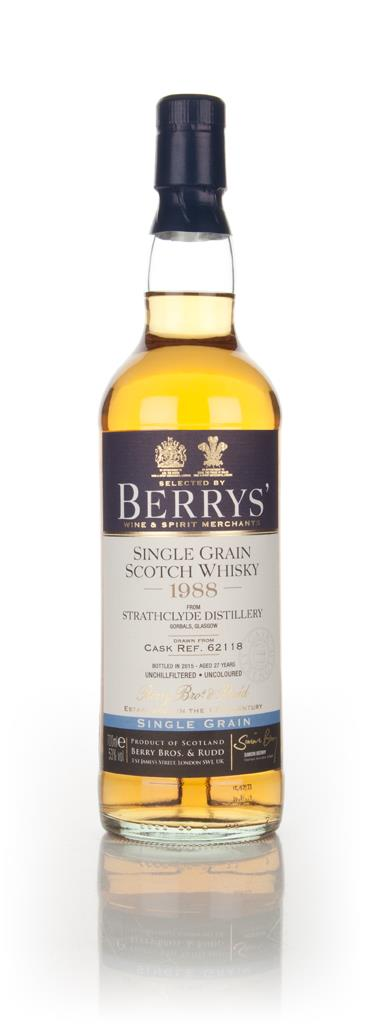 Strathclyde 27 Year Old 1988 (cask 62118) (Berry Bros. & Rudd) 3cl Sam Grain Whisky 3cl Sample