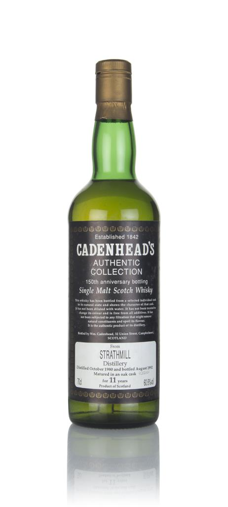 Strathmill 11 Year Old 1980 - Authentic Collection (WM Cadenhead) Single Malt Whisky