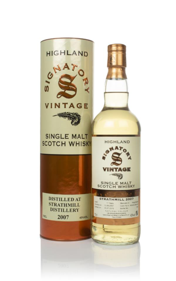 Strathmill 11 Year Old 2007 (casks 805458 & 805459) - Signatory Single Malt Whisky