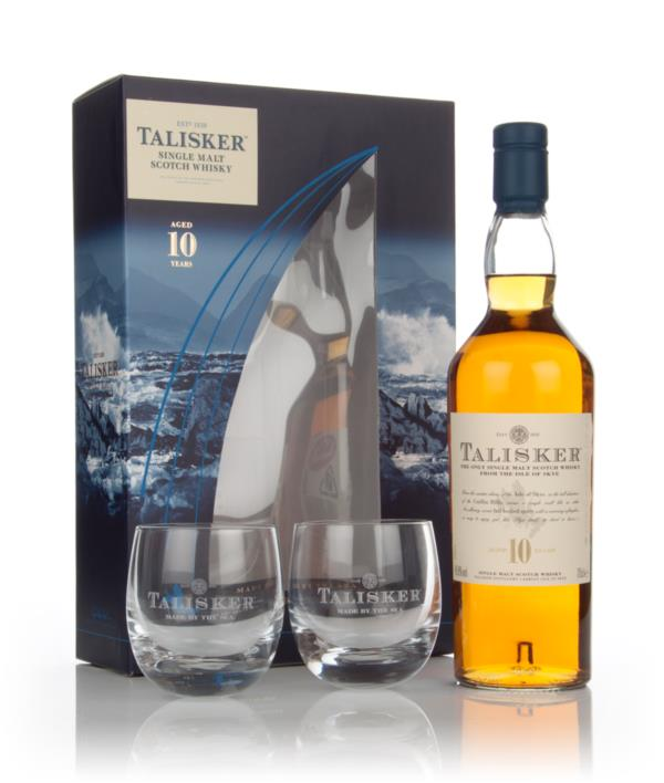 Talisker 10 Year Old Gift Pack with 2x Glasses Single Malt Whisky