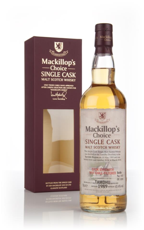 Tamdhu 24 Year Old 1989 (cask 4104) - Mackillops Choice 3cl Sample Single Malt Whisky