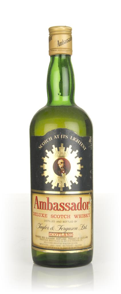 Ambassador Deluxe Scotch Whisky (black label) - 1970s Blended Whisky