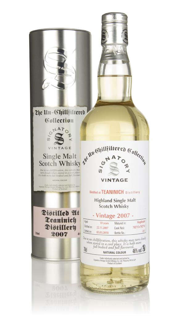 Teaninich 10 Year Old 2007 (casks 702715 & 702716) - Un-Chillfiltered Single Malt Whisky
