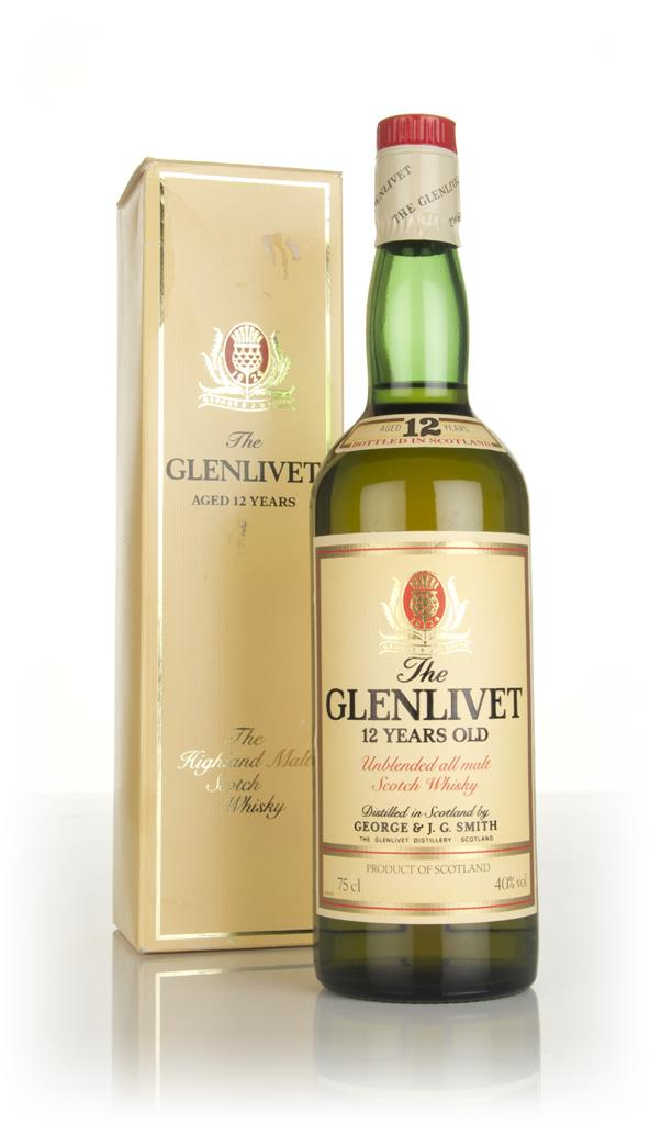 The Glenlivet 12 Year Old - 1980s Single Malt Whisky