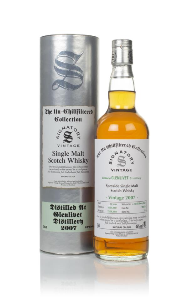 Glenlivet 12 Year Old 2007 (cask 900279) - Un-Chillfiltered Collection Single Malt Whisky
