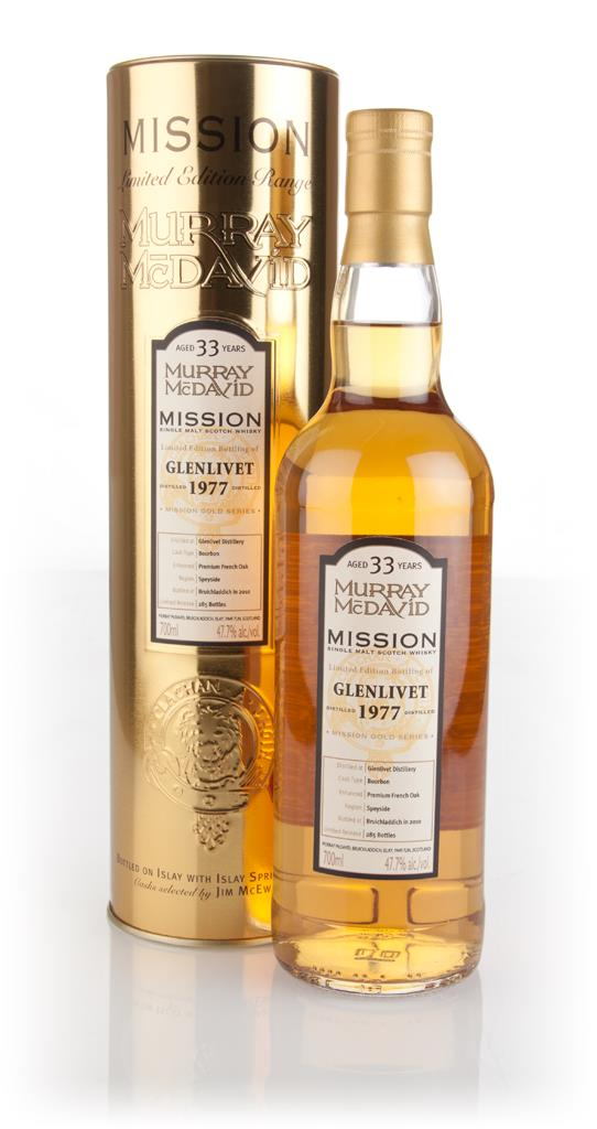 Glenlivet 33 Year Old 1977 - Mission Gold (Murray McDavid) Single Malt Whisky