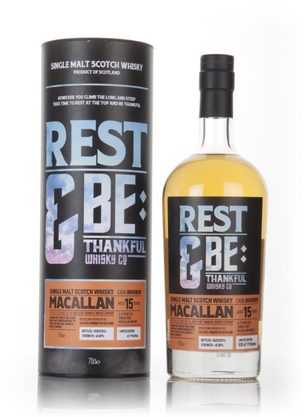 Macallan 15 Year Old (Rest & Be Thankful) 3cl Sample Single Malt Whisky