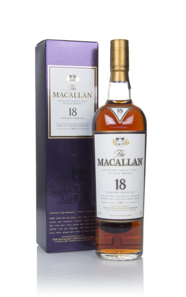 The Macallan 18 Year Old 1993 Sherry Oak Single Malt Whisky