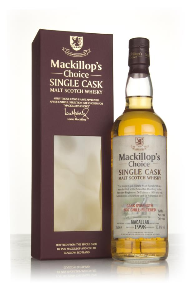 Macallan 19 Year Old 1998 (bottled 2017) - Mackillops Choice 3cl Samp Single Malt Whisky 3cl Sample