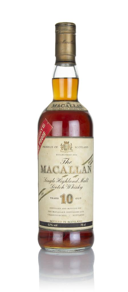 The Macallan 10 Year Old 100 Proof (Red Sticker) - 1980s Single Malt Whisky