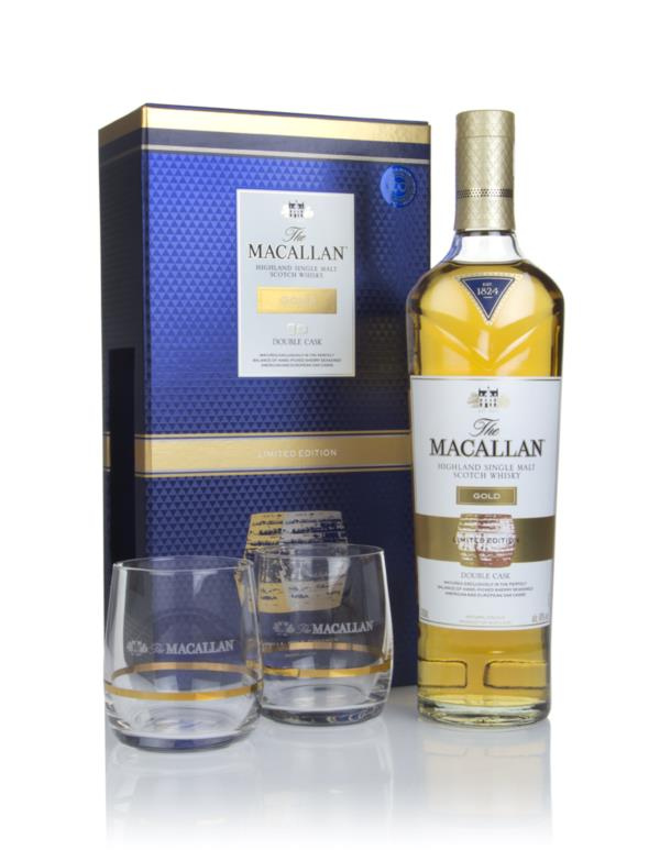 The Macallan Gold Double Cask Gift Pack with 2x Glasses Single Malt Whisky