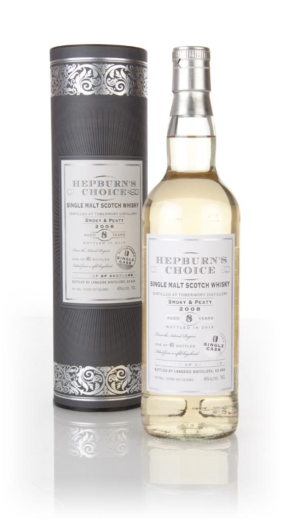 Tobermory 8 Year Old 2008 - Hepburn's Choice (Langside) Single Malt Whisky