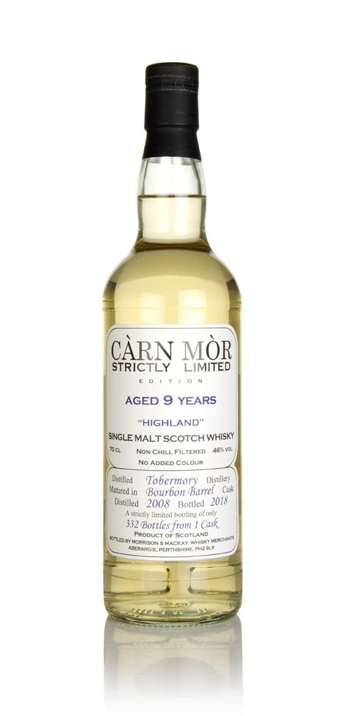 Tobermory 9 Year Old 2009 (bottled 2018) - Strictly Limited (Carn Mor) Single Malt Whisky