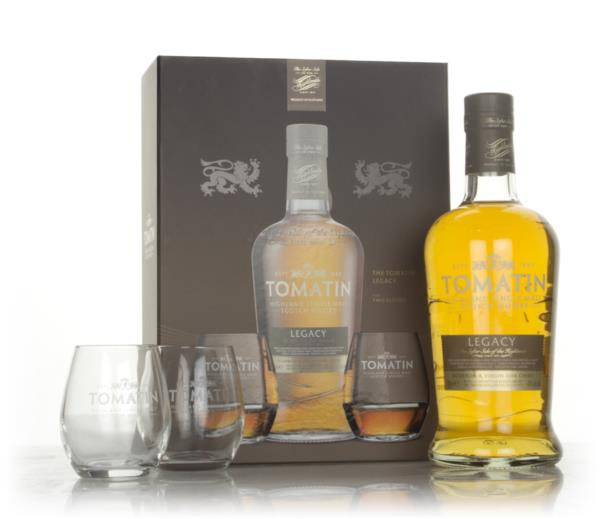 Tomatin Legacy Gift Pack with 2x Glasses Single Malt Whisky