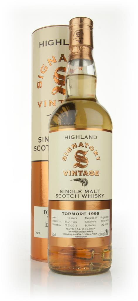 Tormore 16 Year Old 1995 (cask 3875+3876) (Signatory) Single Malt Whisky