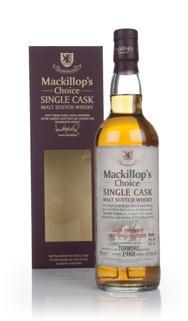 Tormore 27 Year Old 1988 (cask 4177) - Mackillops Choice Single Malt Whisky