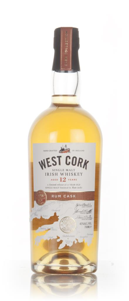 West Cork 12 Year Old Rum Cask Finish Single Malt Whiskey