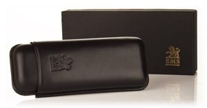 Black Leather Cigar Case - Robusto