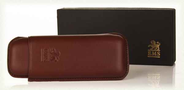 Brown Leather Cigar Case - Marevas