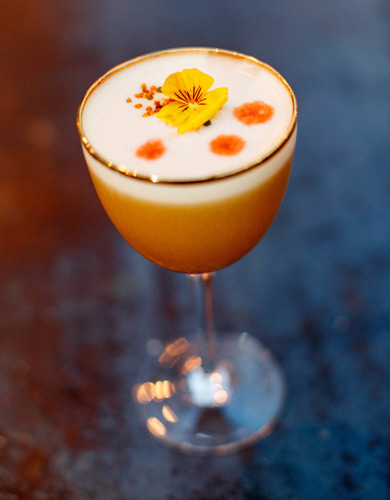 Roe & Co Peaches and Cream cocktail