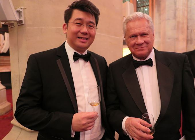 Dr Jim Swan with Ian Cheung from Kavalan in Taiwan