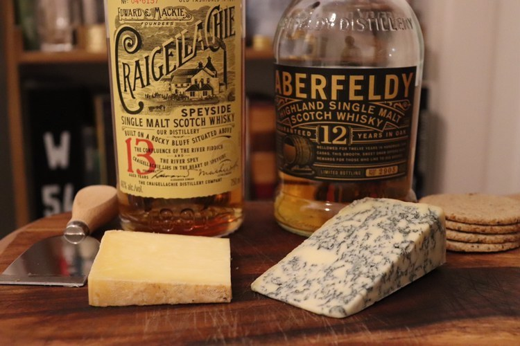Aberfeldy and Craigellachie with cheese 2