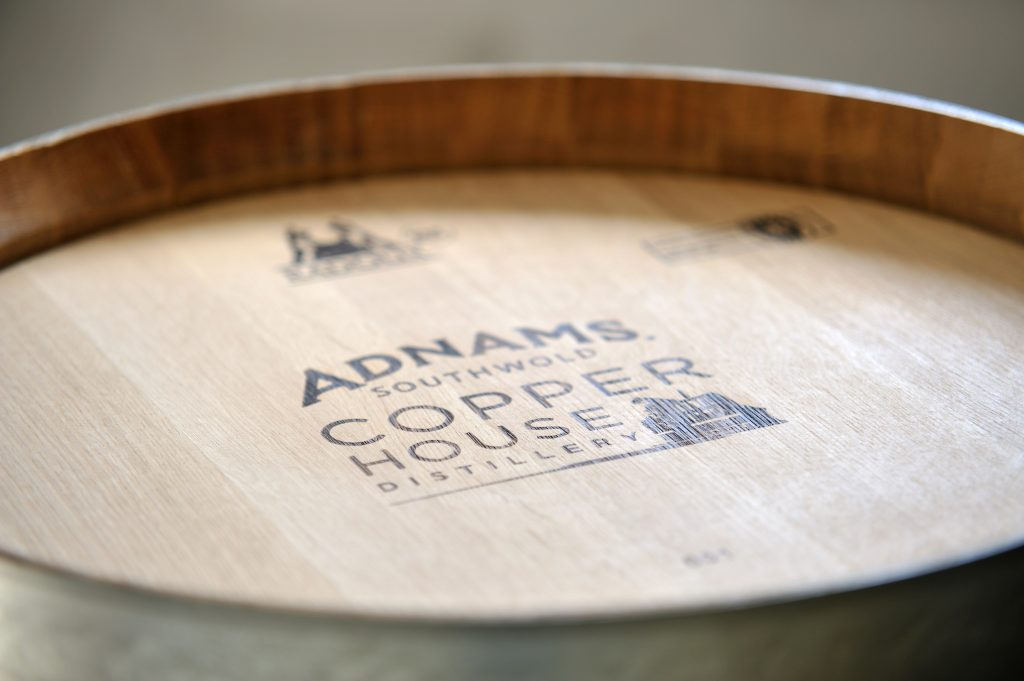 Barrels at Adnams Copper House Distillery