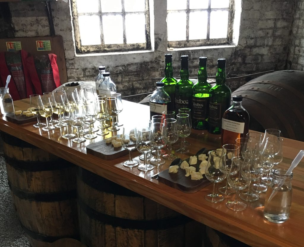 Ardbeg and cheese tasting
