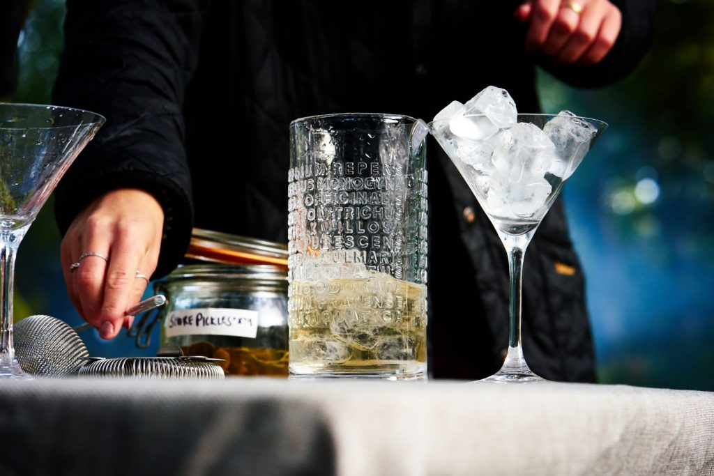 Making a Wild Gibson Martini with the Botanist Gin