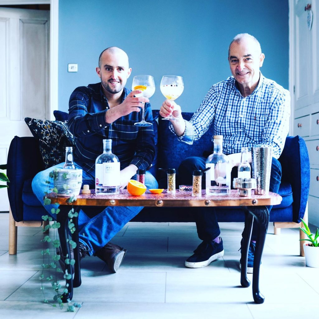 Father and son at Prestwich gin