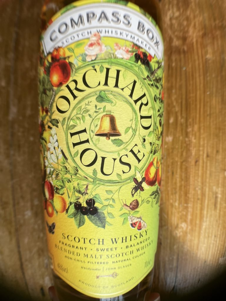 Compass Box Orchard House label