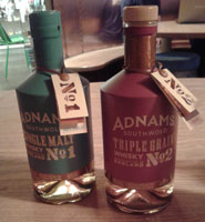 Adnam's Single Malt and Triple Grain whiskies