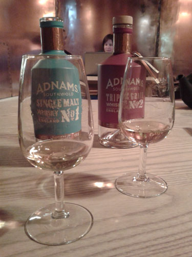 Tasting Adnam's Single Malt Number One and Triple Grain Number Two