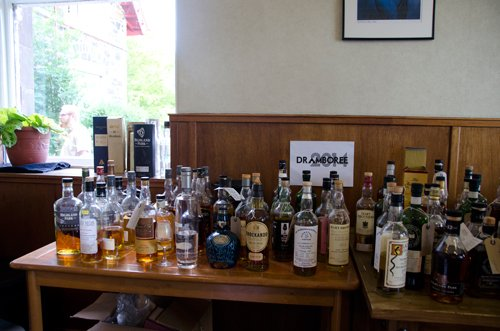 Dramboree 2014 Whisky Table