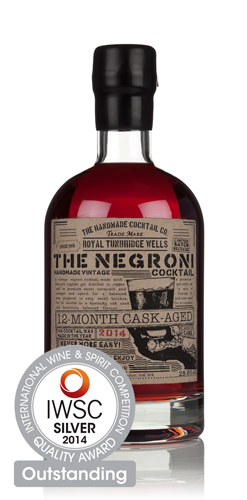 The Handmade Cocktail Company Cask-Aged Negroni IWSC 2014 Silver Outstanding
