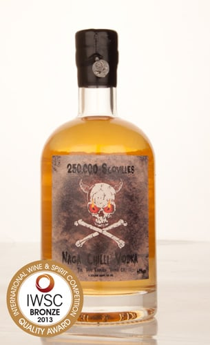 250,000 Scovilles Naga Chilli Vodka IWSC 2013