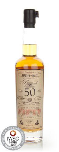 Master of Malt 50 Year Old Speyside IWSC 2013
