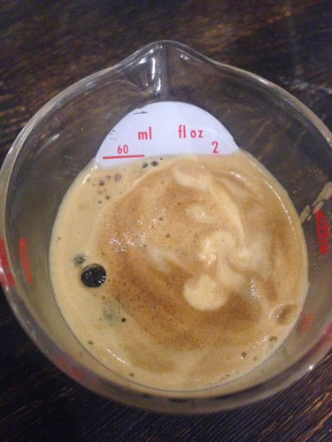 Master of Cocktails Espresso Martini measure espresso