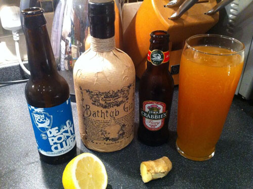 Master of Cocktails @Stephenparsons Bathtub Ginger Beer