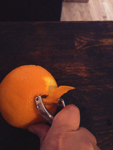 Orange garnish